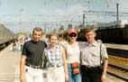 Андреи провожают нас с Аллой на вокзале в Краснодаре