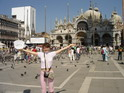 Странный стенд на площади Сан Марко