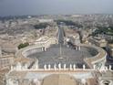 Вид на Площадь Святого Петра с купола одоноименного собора