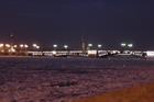 Зимняя Нева и Дворцовый мост