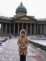 Казанский собор зимой