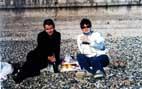 Выпиваем на пляже