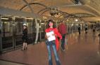 Станция автоматического метро в Париже