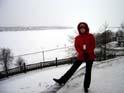 Замерзшая Настя и застывшая Волга
