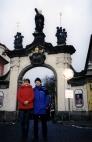 Мы с Андрюшей в Градчанах